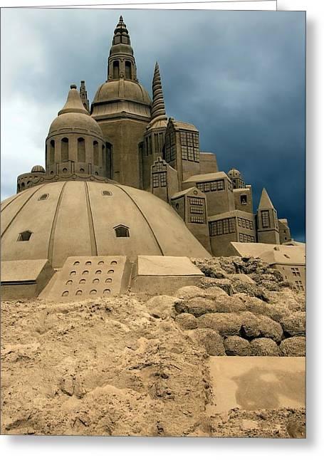 Best Sellers -  - Sand Castles Greeting Cards - Sand Castle Greeting Card by Sophie Vigneault