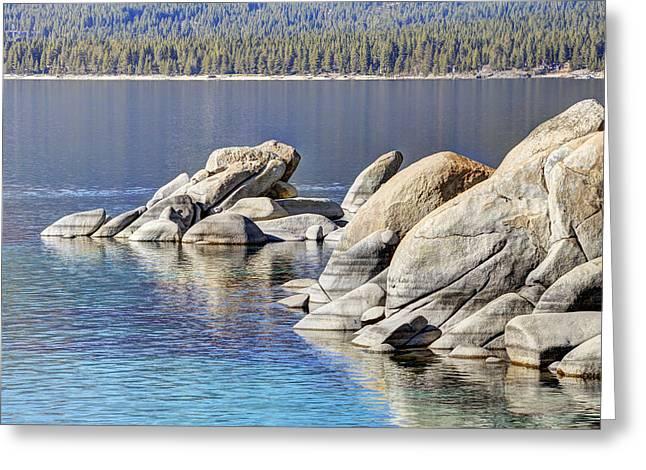 Sand Harbor Lake Tahoe Greeting Card by Marv Vandehey