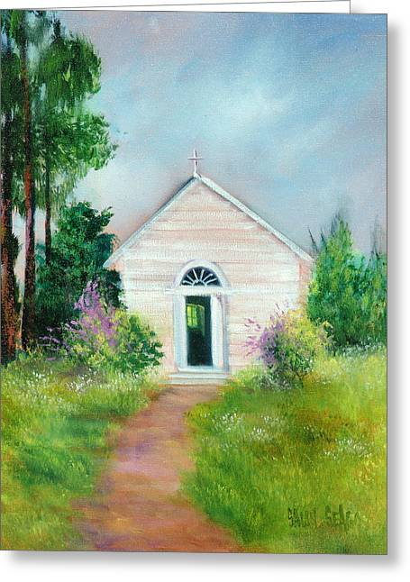 Santa Rosa Chapel Greeting Card by Sally Seago