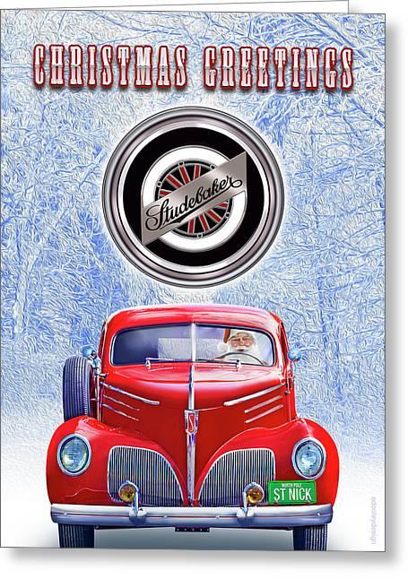 Santas Coupe Express Greeting Card