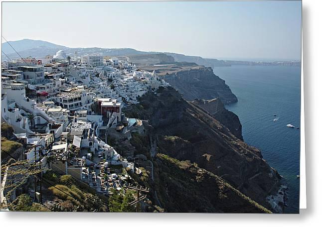 Santorini, Greece Greeting Card by Cendrine Marrouat