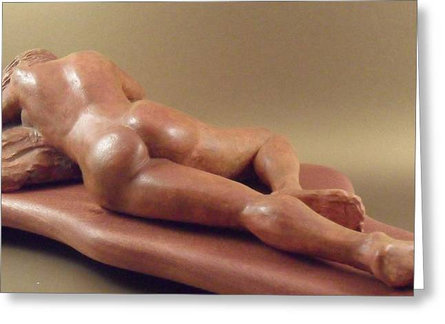 Sculpture. Ceramics Greeting Cards - Sayva Greeting Card by Scott Russo