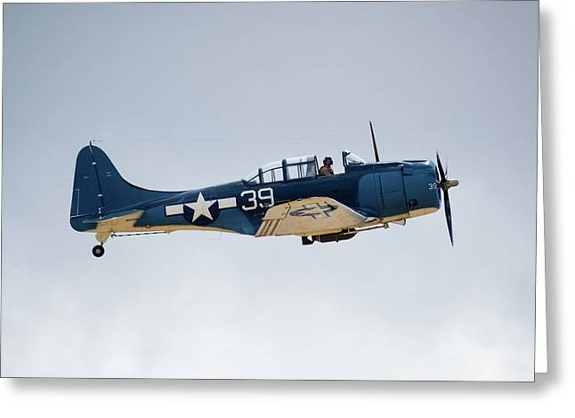 Sbd Dauntless Greeting Card by Brian Knott Photography