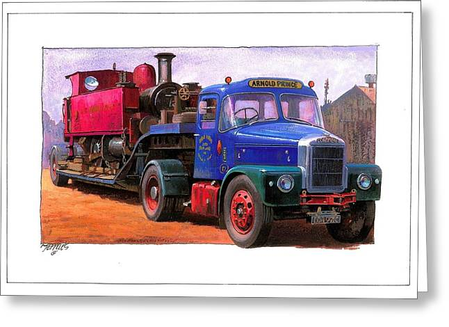 Scammell Highwayman. Greeting Card by Mike  Jeffries