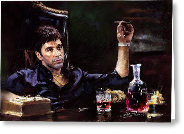 Scarface Greeting Card