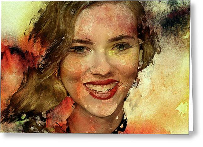 Scarlett Johansson Greeting Card