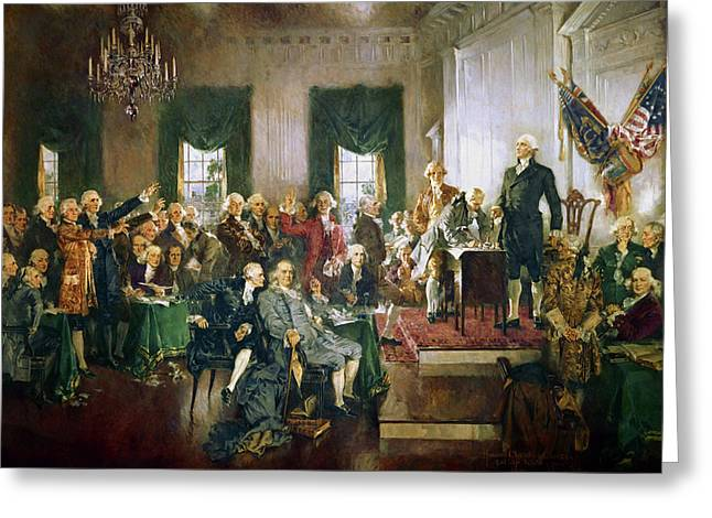 Scene At The Signing Of The Constitution Greeting Card