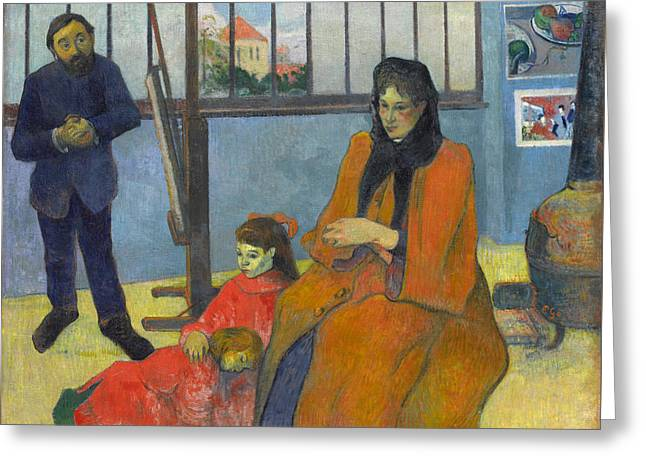 Schuffenecker's Studio  Greeting Card by Paul Gauguin