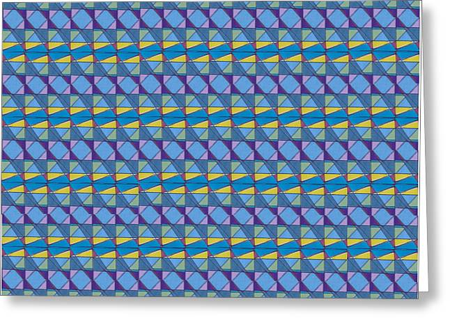 Science Fair Toys Greeting Card by Modern Metro Patterns and Textiles