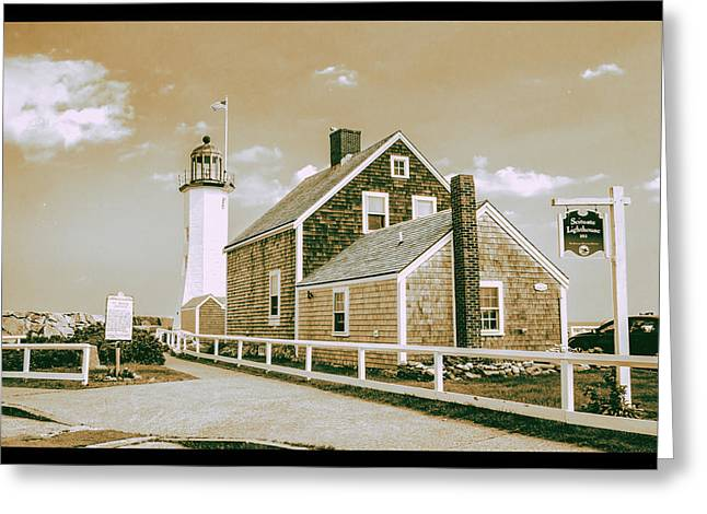 Scituate Lighthouse In Scituate, Ma Greeting Card