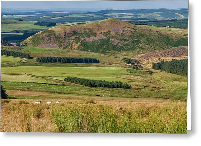 Scotland View From The English Borders Greeting Card by Jeremy Lavender Photography