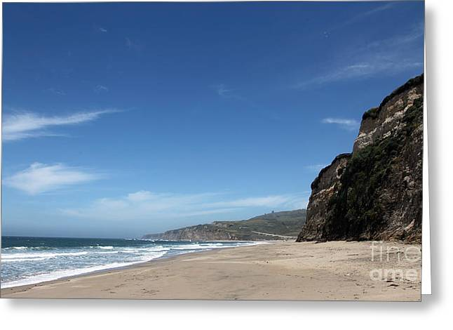 Scott Creek Beach California Usa Greeting Card by Amanda Barcon