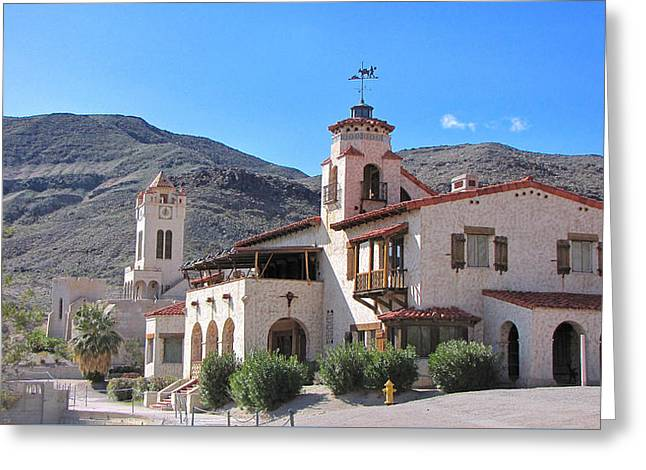 Scotty's Castle Death Valley Greeting Card by Backcountry Explorers