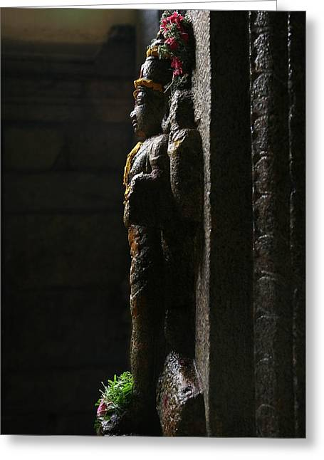 Sculpture Greeting Card by Deepak Pawar