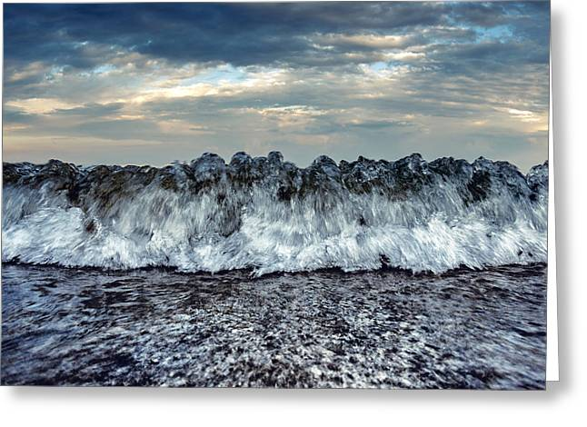 Sea Energy Greeting Card by Stelios Kleanthous