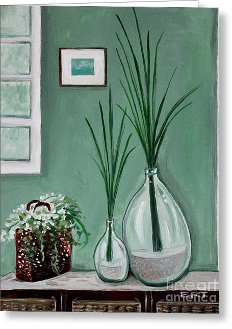 Greeting Card featuring the painting Sea Grass by Elizabeth Robinette Tyndall