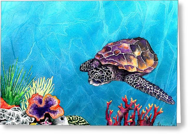 Sea Turtle Greeting Card by Brazen Edwards
