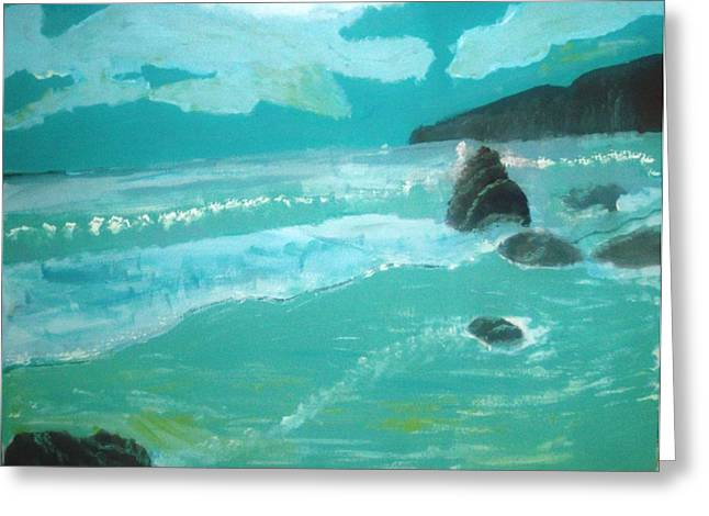 Seascape Greeting Card by Hannah Walton
