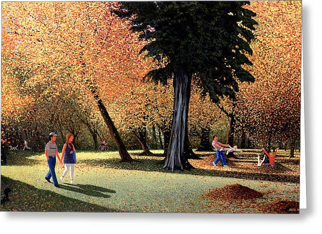 Autumn Landscape Paintings Greeting Cards - Season of Abundance and Joy Greeting Card by Neil Woodward