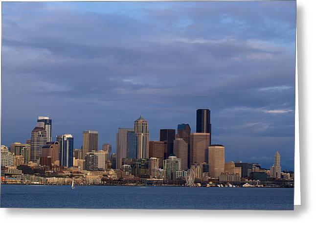 Greeting Card featuring the photograph Seattle by Evgeny Vasenev