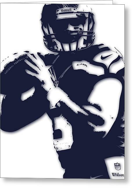 Seattle Seahawks Russell Wilson Greeting Card