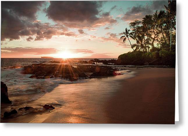 Secret Beach Maui Greeting Card by Seascaping Photography