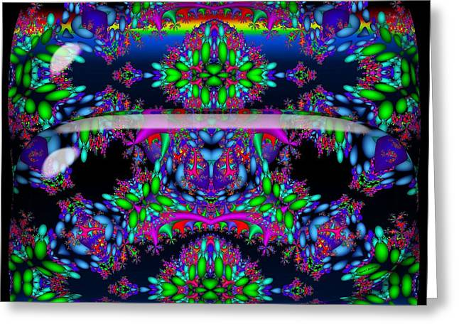 Greeting Card featuring the digital art Secret Garden by Robert Orinski