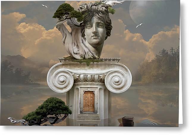 Greeting Card featuring the digital art Secret Place Of Atlantis by Alexa Szlavics