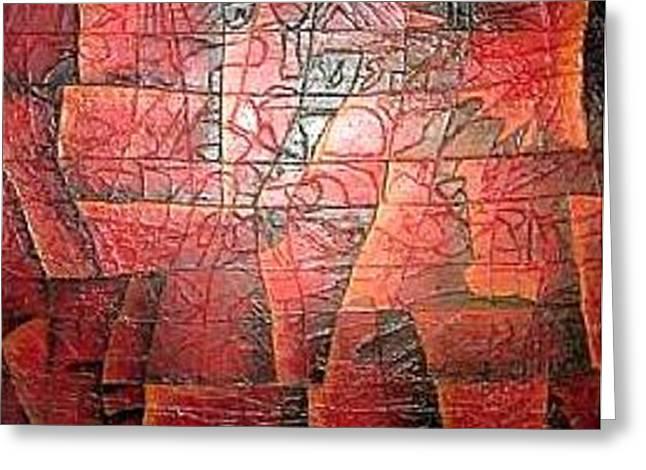 Sedona Sunset Greeting Card by Bernard Goodman