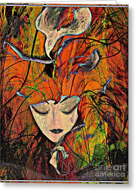 Seeing Things Greeting Card by Jolanta Anna Karolska