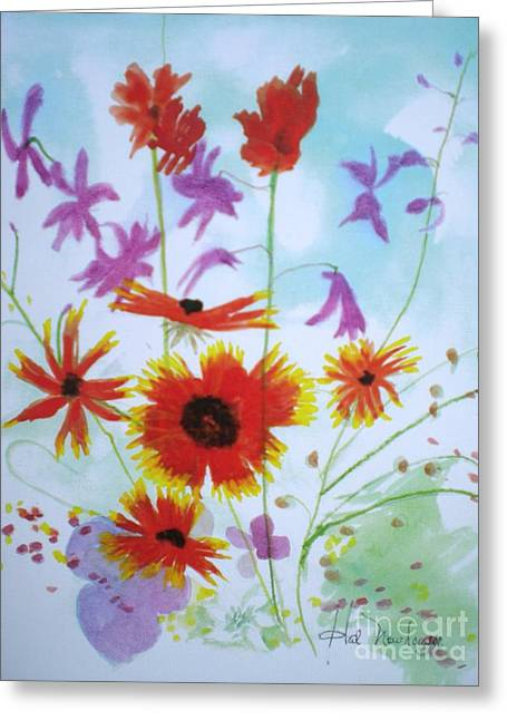 Selected Wild Flowers Greeting Card by Hal Newhouser