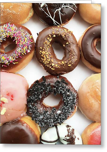 Selection Of Doughnut Greeting Card by Tom Gowanlock