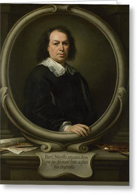 Self-portrait Greeting Card by Bartolome Esteban Murillo