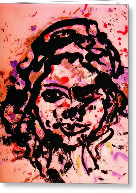 Self Portrait Greeting Card by Natalie Holland