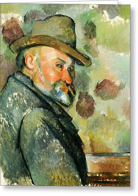 Self Portrait With A Hat Greeting Card by Paul Cezanne
