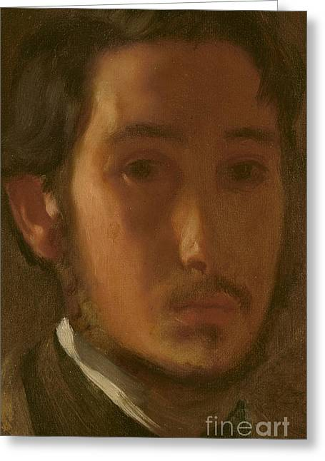 Self-portrait With White Collar Greeting Card