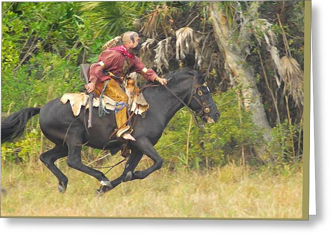 Seminole Indian Warrior Greeting Card