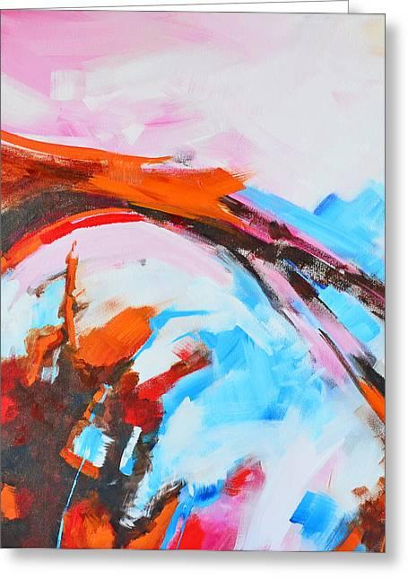 Serendipity No. 2 Abstract Painting Greeting Card by Patricia Awapara