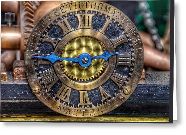 Seth Thomas 1911 Clock Mechanism In Bromo Seltzer Tower Baltimore Greeting Card
