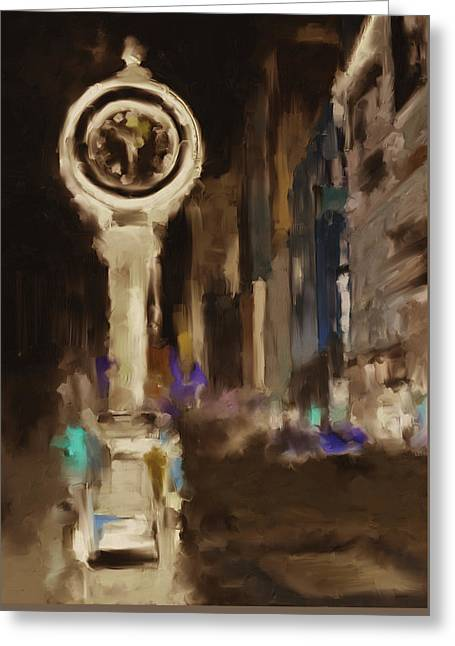 Seth Thomas Clock Ny 562 4 Greeting Card by Mawra Tahreem