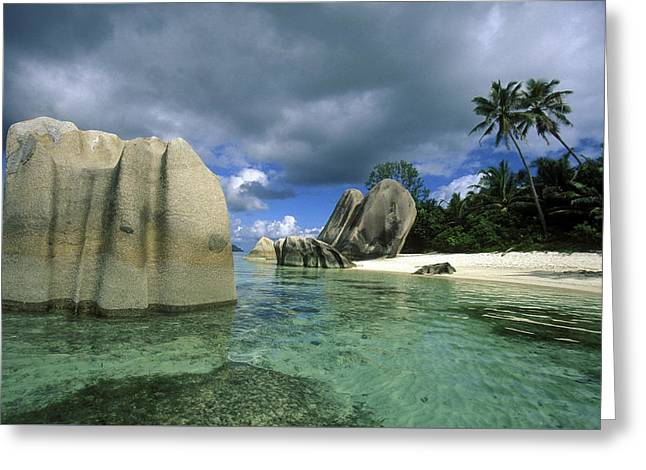 Seychelles Greeting Card by Urs Flueeler
