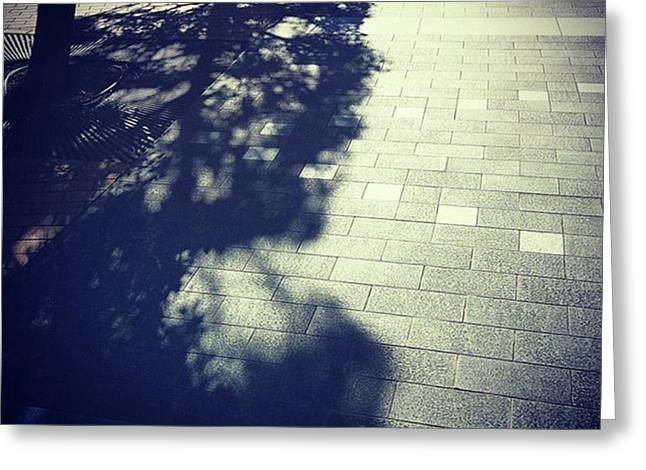 #shadow #光と影 Greeting Card by Bow Sanpo