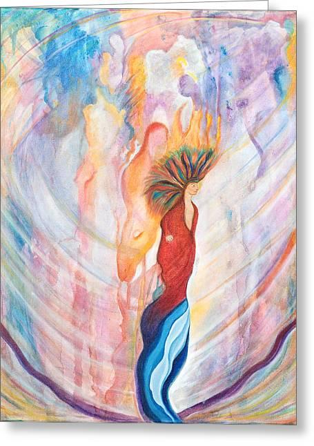 Shamans Dream Greeting Card by Leti C Stiles