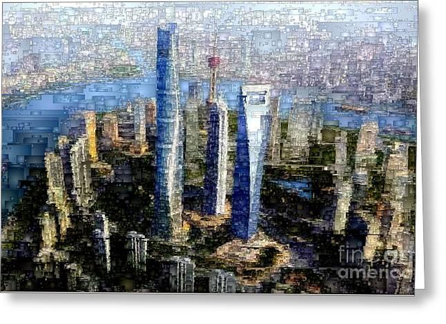 Shanghai, China Greeting Card by Rafael Salazar