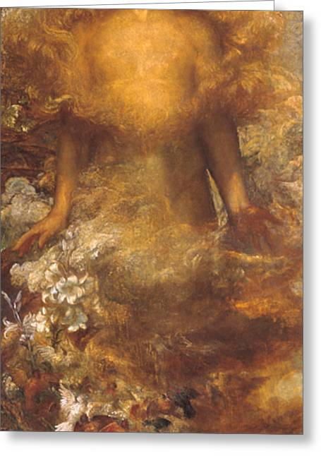 She Shall Be Called Woman Greeting Card by George Frederic Watts