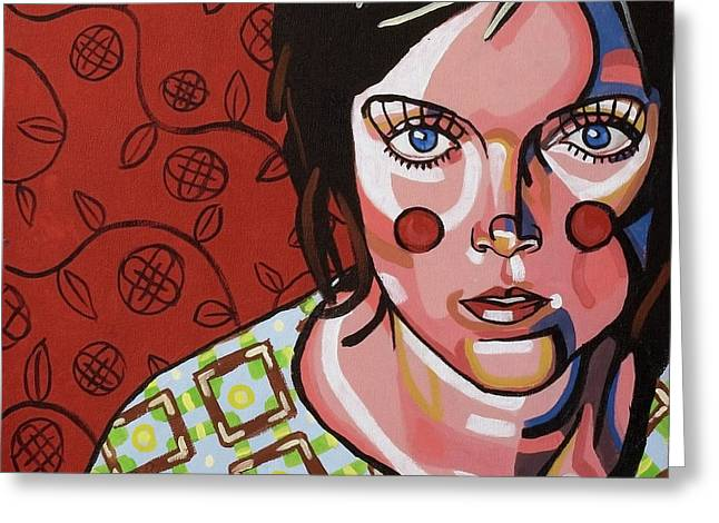 She With The Blue Eyes Greeting Card by Rob Tokarz