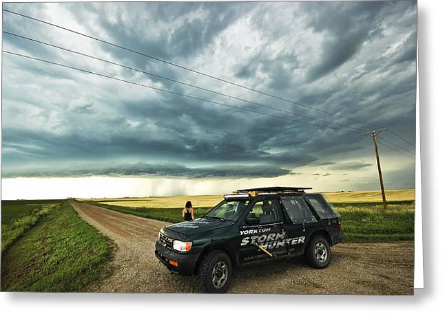 Shelf Cloud Near Vibank Sk. Greeting Card