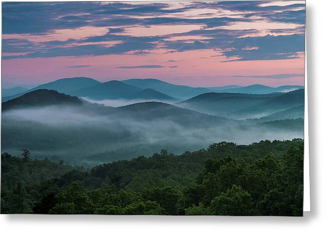 Greeting Card featuring the photograph Shenandoah Sunrise by Kevin Blackburn