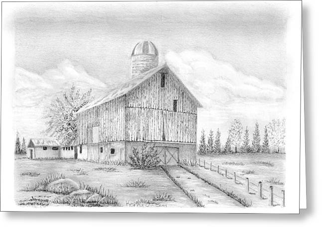 Sheshequin Township Farm Greeting Card by Kerry Facey