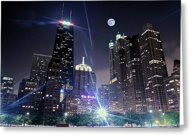 Shining Bright In Chicago Greeting Card by Frozen in Time Fine Art Photography